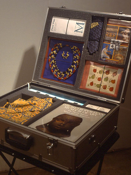 Collectors (Michael C. Rockefeller), 1990, detail (Suitcase )