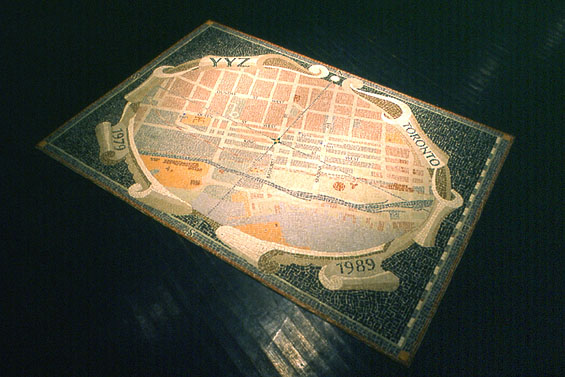 Decalog, 1990, detail (Mosaic Map)