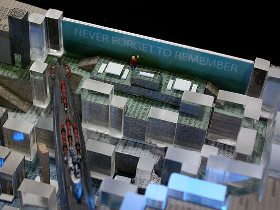 Manchester Letherium Ideas Competition, 2005, detail (scale model)