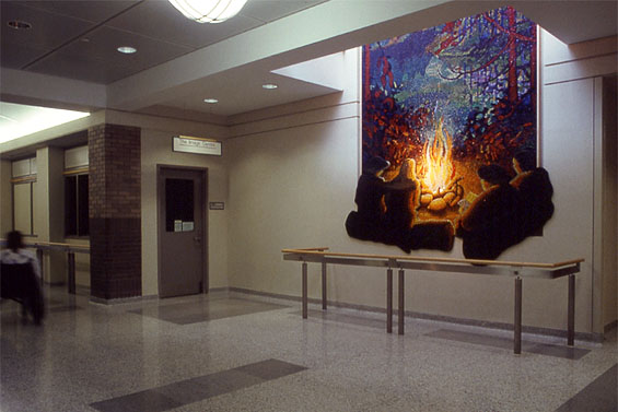 Northern Night, 1996, installation view on ground floor