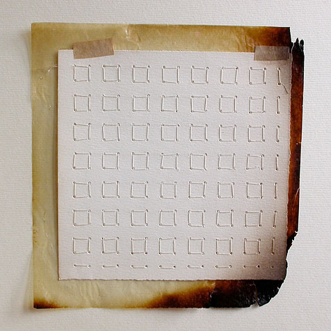 The Second Occupation, 2007, (open) paper, thread, glassine